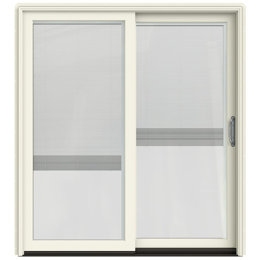 Shop Jeld Wen W 2500 Blinds Between The Glass French Vanilla Wood Sliding Patio Door