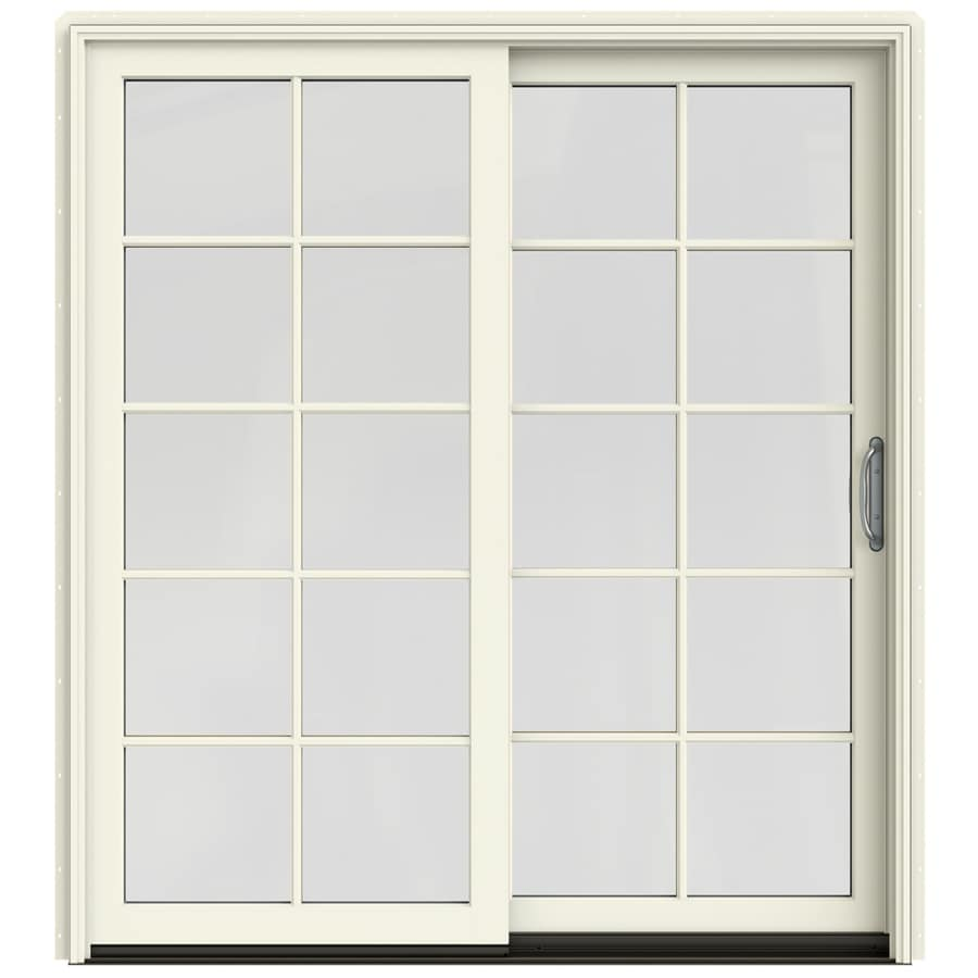Shop jeld wen w 2500 10 lite glass french vanilla for Lowes exterior french doors