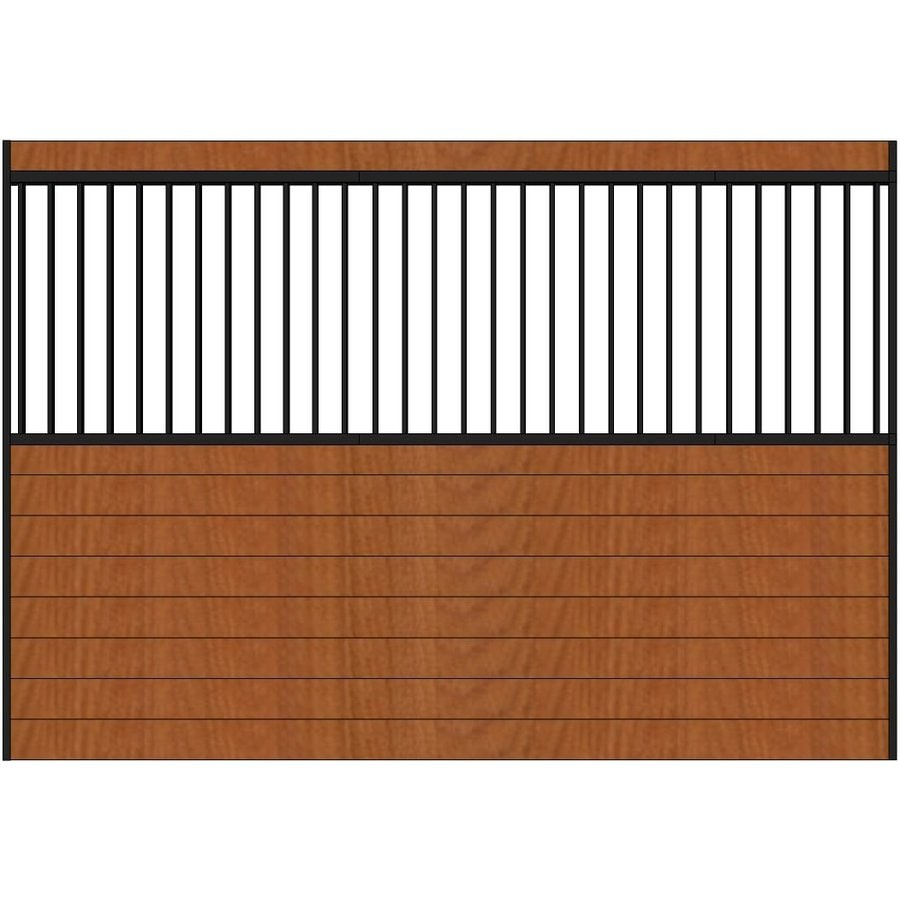 Country Manufacturing 10-ft x 7-ft Steel Fixed Side Wall Horse Stall