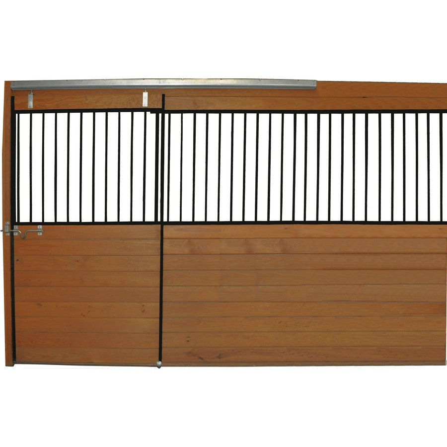 Country Manufacturing 12-ft x 7-ft Steel Fixed Front Door Horse Stall