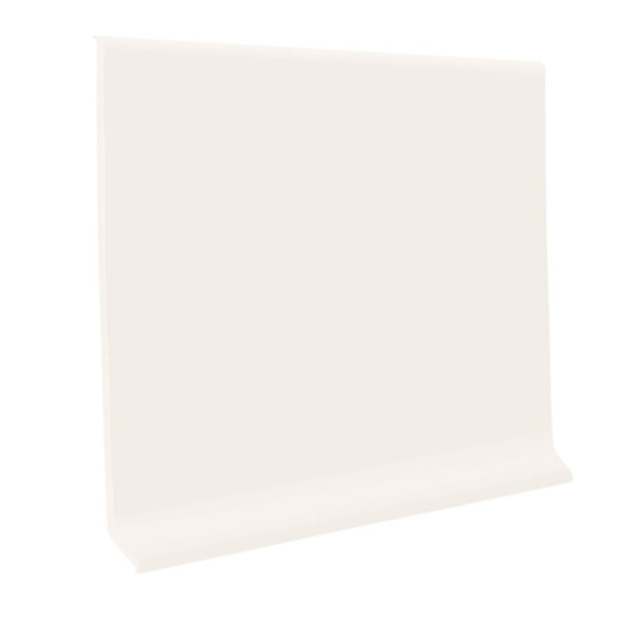 FLEXCO 30-Pack 4-in W x 4-ft L Arctic White Thermoplastic Rubber Wall Base