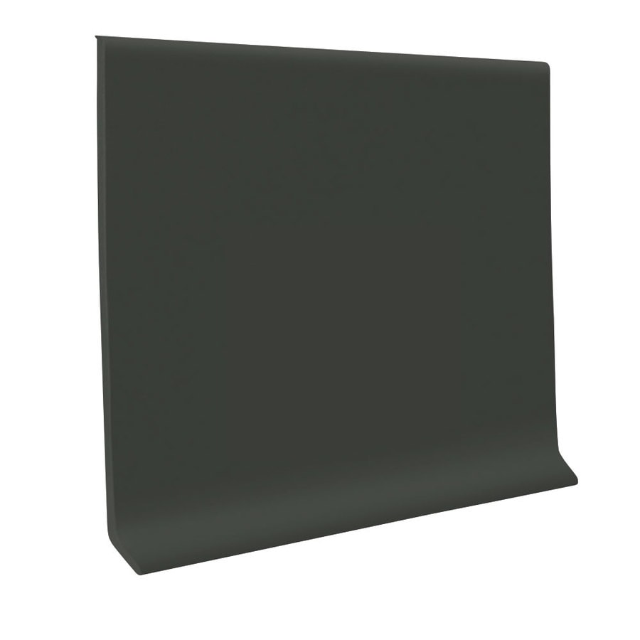 FLEXCO 30-Pack 4-in W x 4-ft L Black and Brown Thermoplastic Rubber Wall Base