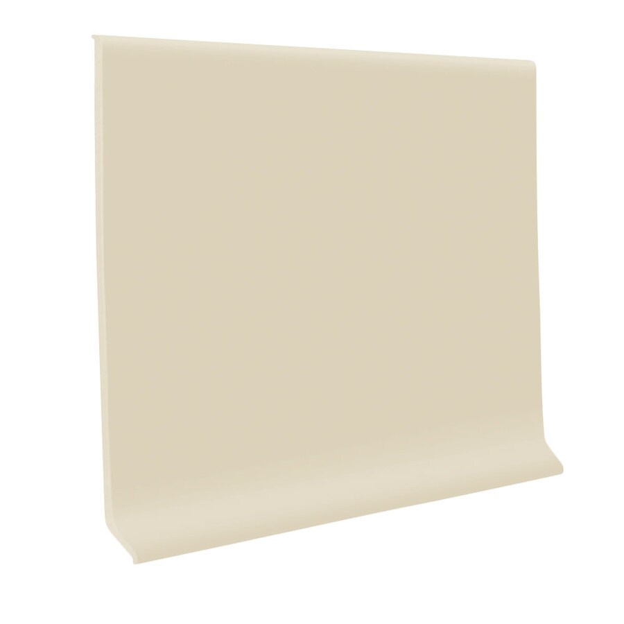 FLEXCO 30-Pack 4-in W x 4-ft L Almond Thermoplastic Rubber Wall Base
