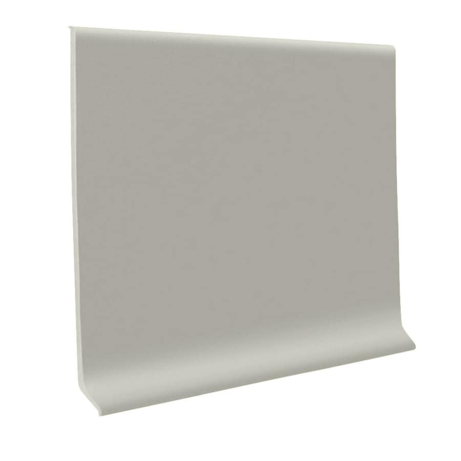 FLEXCO 30-Pack 2.5-in W x 4-ft L Light Gray Thermoplastic Rubber Wall Base