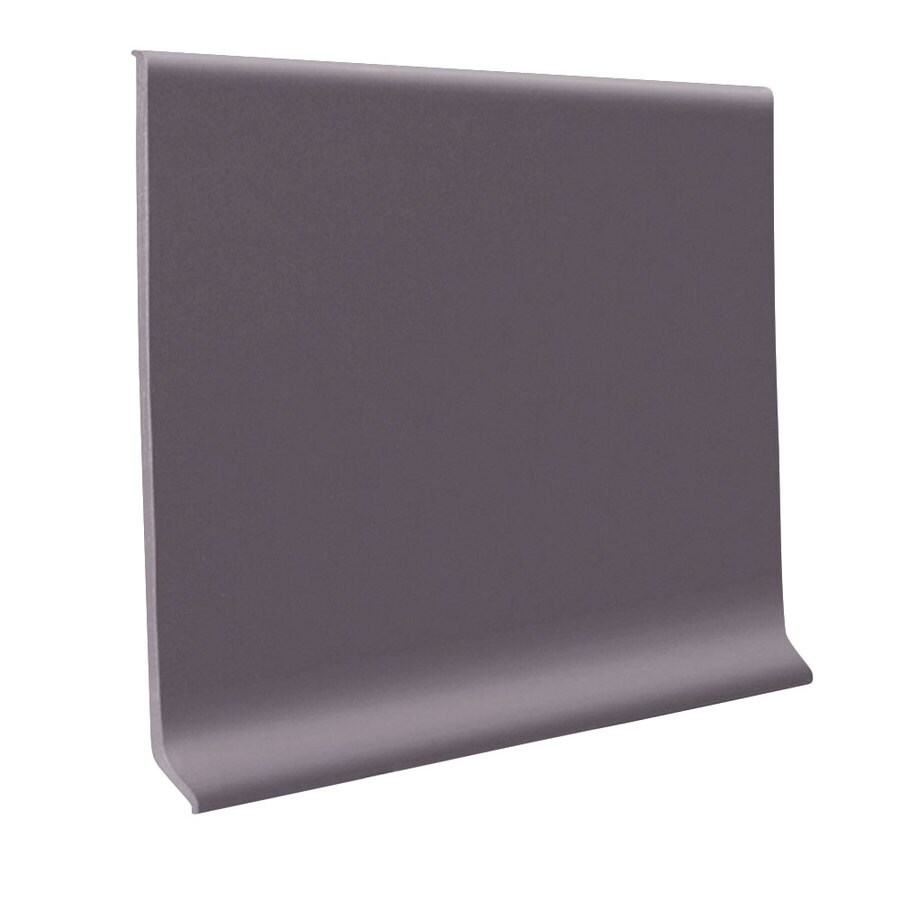 FLEXCO 30-Pack 2.5-in W x 4-ft L Charcoal Thermoplastic Rubber Wall Base