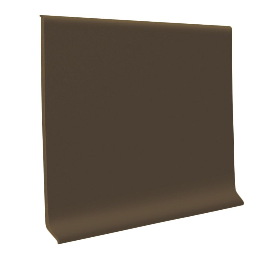 FLEXCO 4-in W x 50-ft L Chocolate Thermoplastic Rubber Wall Base