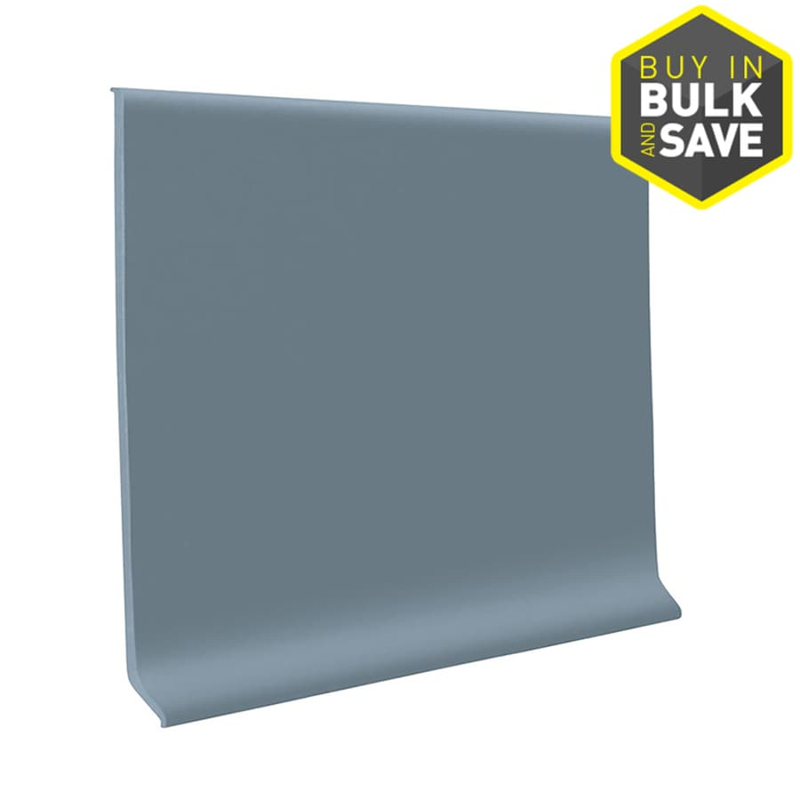 FLEXCO 4-in W x 4-ft L Blue Shadow Thermoplastic Rubber Standard Wall Base