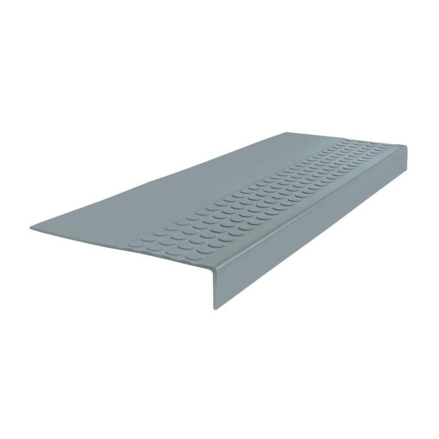 FLEXCO 12-in x 48-in Medium Gray Rubber Square Nose Stair Treads