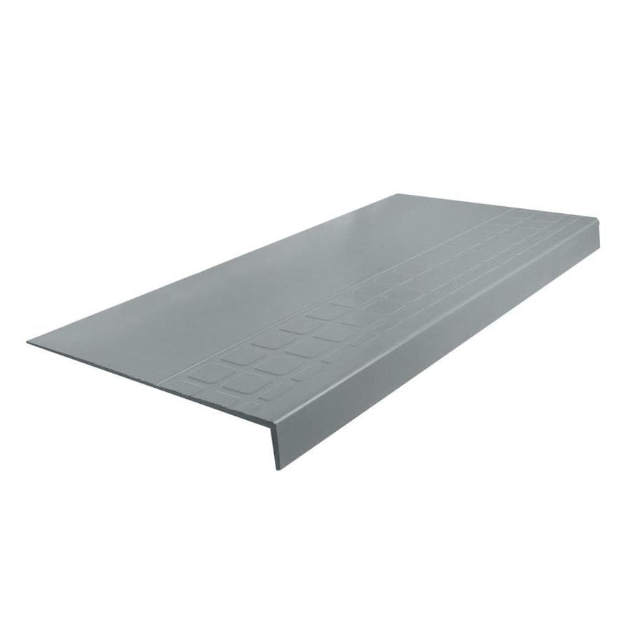 FLEXCO 12.25-in x 36-in Medium Gray Rubber Square Nose Stair Treads