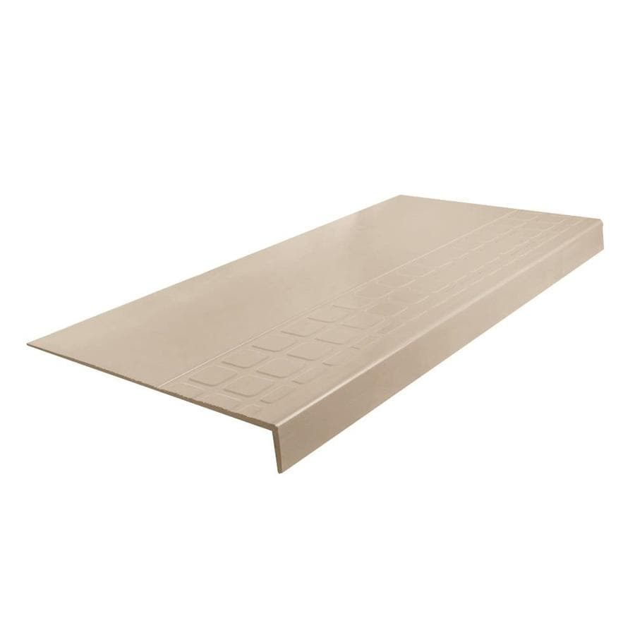 FLEXCO 12.25-in x 36-in Dune Rubber Square Nose Stair Treads