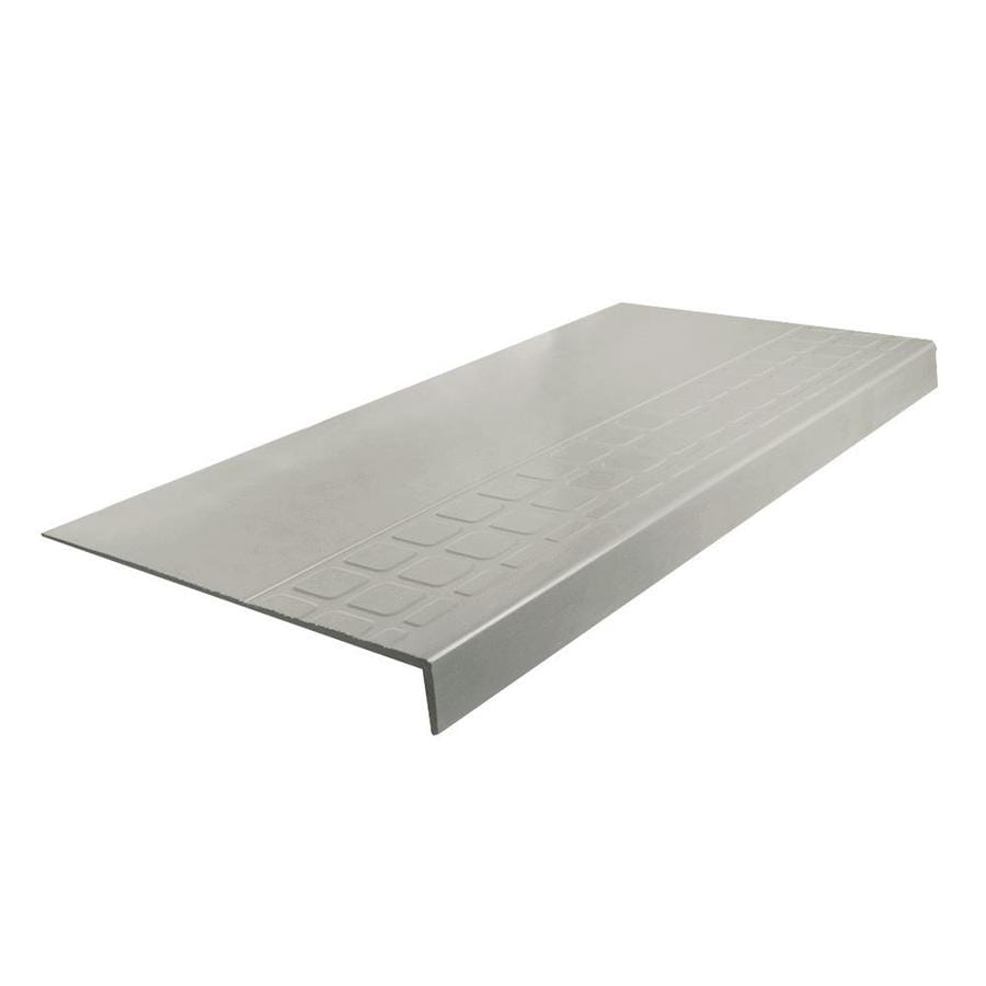 FLEXCO 12.25-in x 48-in Light Gray Rubber Square Nose Stair Treads