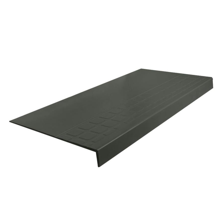 FLEXCO 12.25-in x 48-in Black Brown Rubber Square Nose Stair Treads