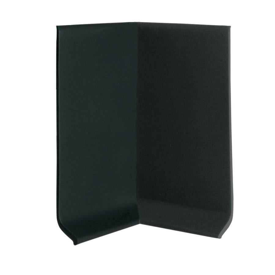 FLEXCO 30-Pack 4-in W x 0.25-ft L Black Dahlia Rubber Inside Corner Wall Base