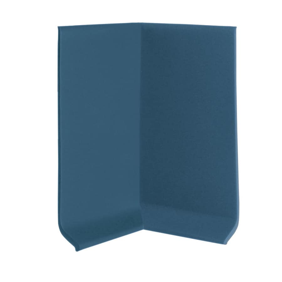 FLEXCO 30-Pack 4-in W x 0.25-ft L Blue Rubber Inside Corner Wall Base