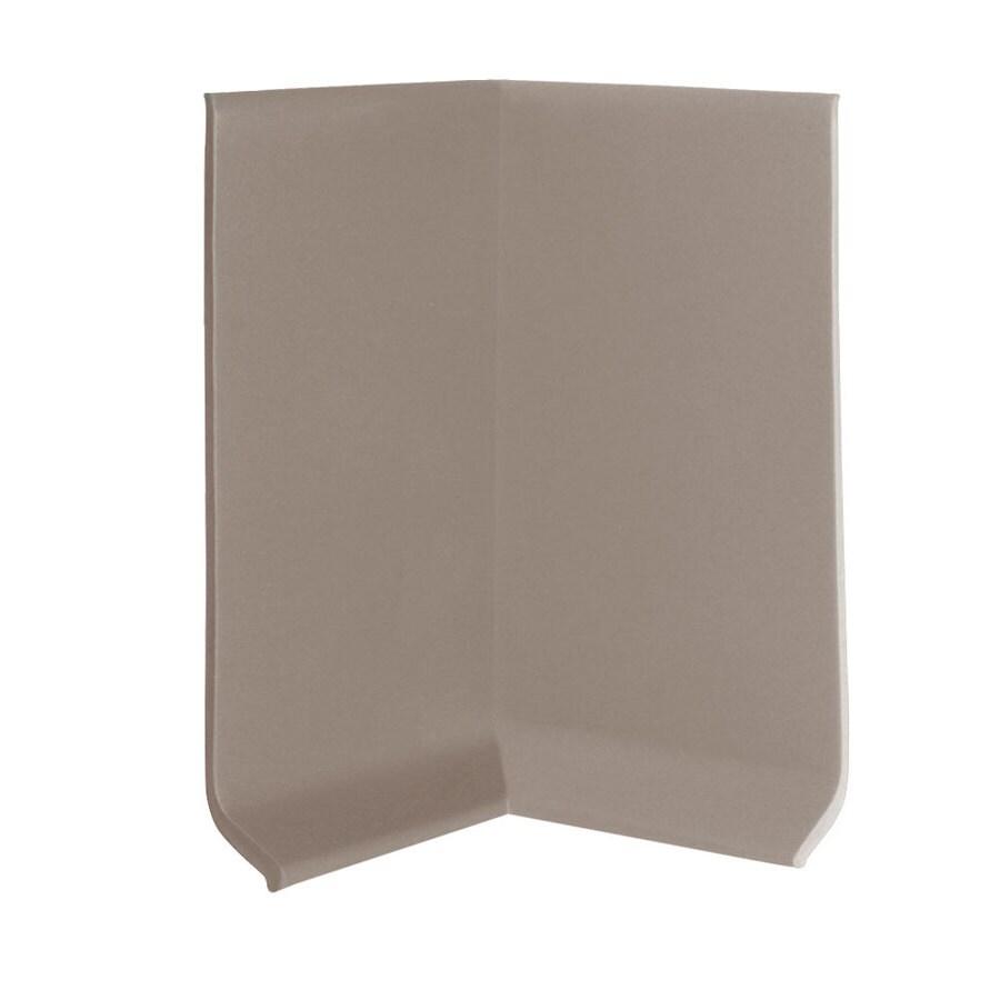 FLEXCO 30-Pack 4-in W x 0.25-ft L Dark Beige Rubber Inside Corner Wall Base