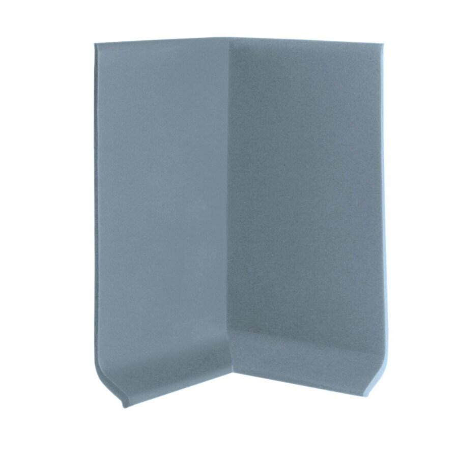 FLEXCO 30-Pack 4-in W x 0.25-ft L Blue Shadow Rubber Inside Corner Wall Base