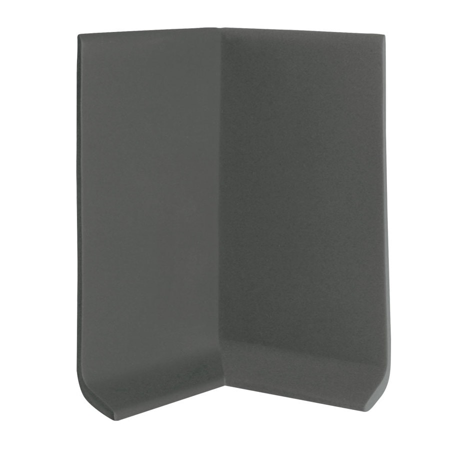 FLEXCO 30-Pack 4-in W x 0.25-ft L Black Brown Rubber Inside Corner Wall Base