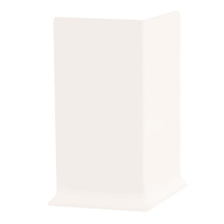 FLEXCO 30-Pack 2.5-in W x 0.25-ft L True White Rubber Outside Corner Wall Base