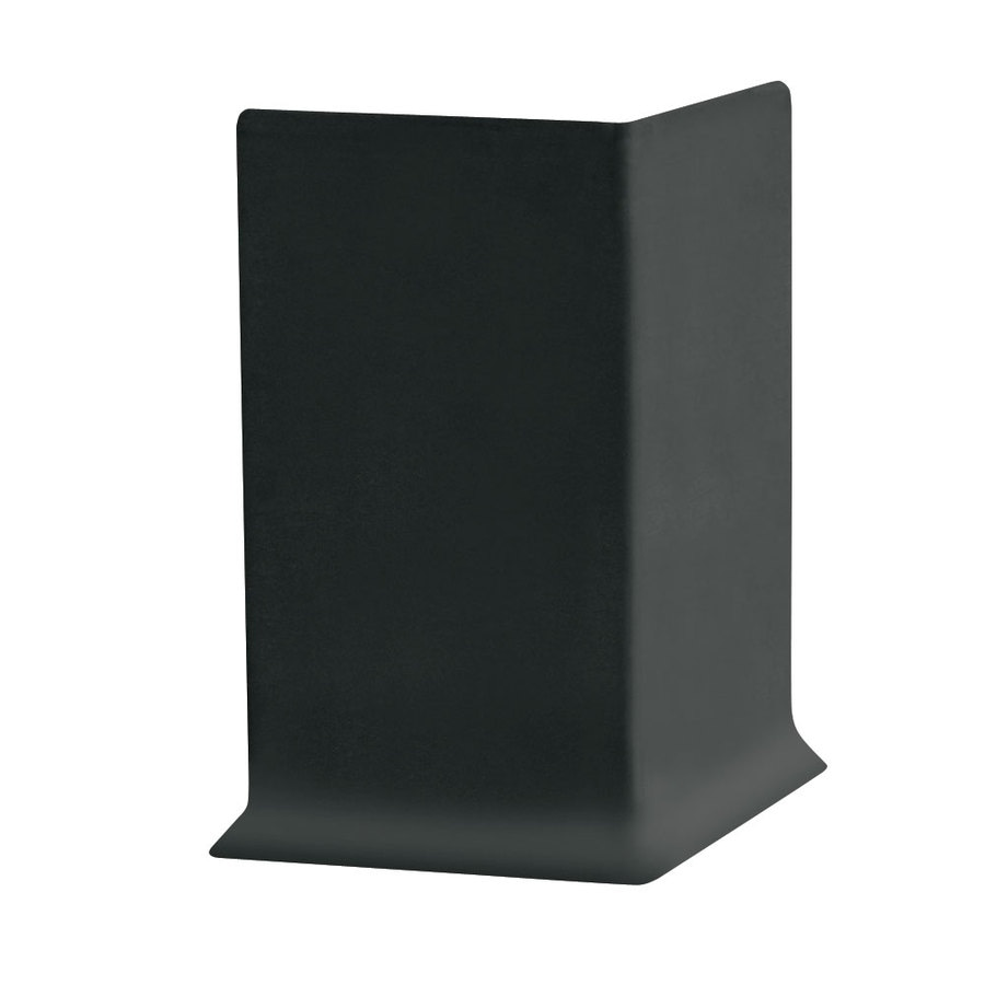 FLEXCO 30-Pack 4-in W x 0.25-ft L Black Rubber Outside Corner Wall Base