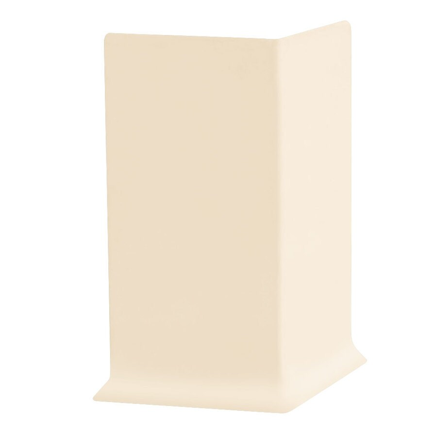 FLEXCO 30-Pack 4-in W x 0.25-ft L Almond Rubber Outside Corner Wall Base