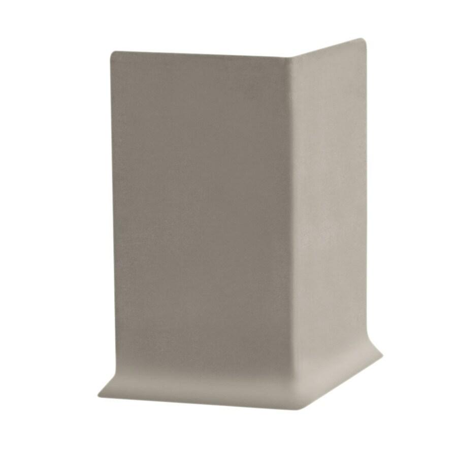 FLEXCO 30-Pack 4-in W x 0.25-ft L Stone Rubber Outside Corner Wall Base