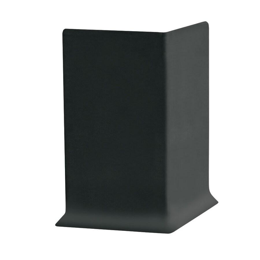 FLEXCO 30-Pack 6-in W x 0.25-ft L Black Dahlia Rubber Outside Corner Wall Base