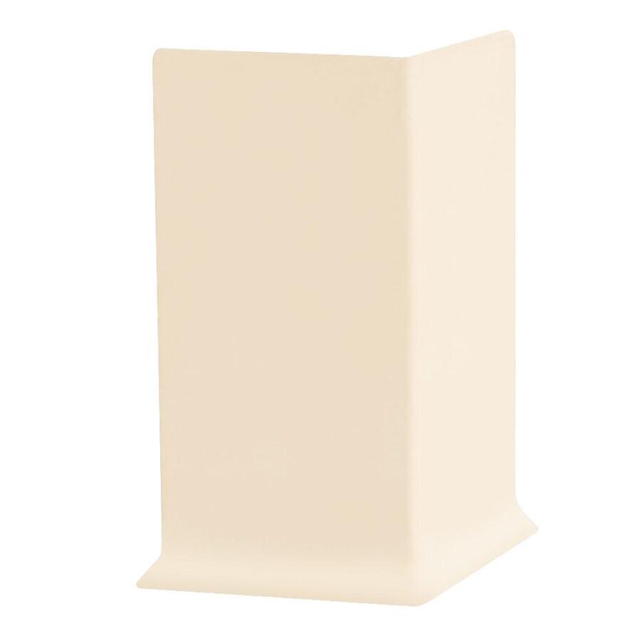 FLEXCO 30-Pack 6-in W x 0.25-ft L Almond Rubber Outside Corner Wall Base