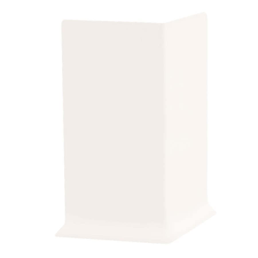 FLEXCO 30-Pack 6-in W x 0.25-ft L True White Rubber Outside Corner Wall Base