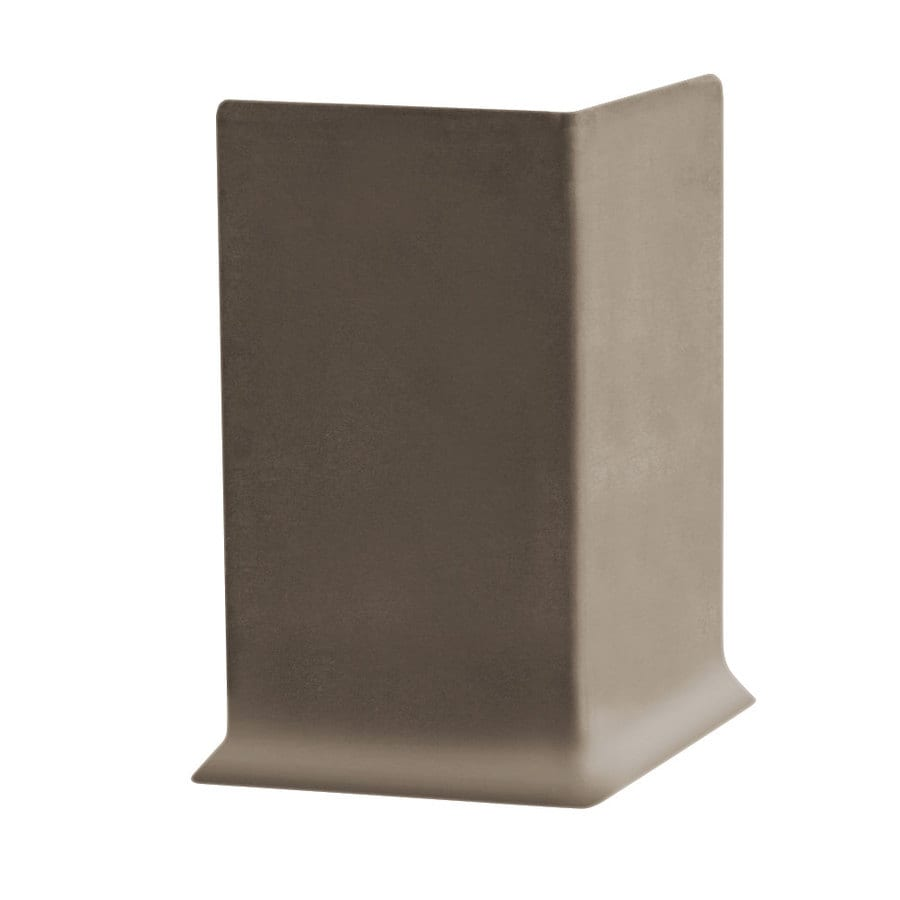 FLEXCO 30-Pack 6-in W x 0.25-ft L Milk Chocolate Rubber Outside Corner Wall Base