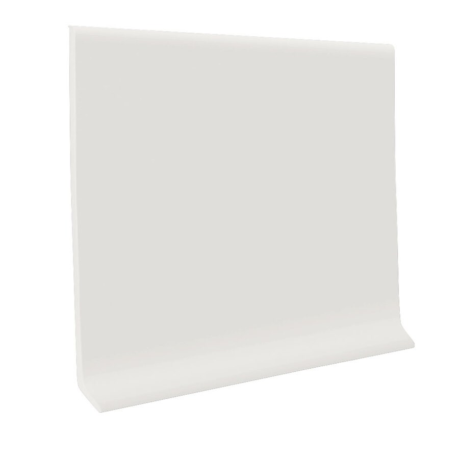 FLEXCO 30-Pack 2.5-in W x 4-ft L True White Rubber Wall Base