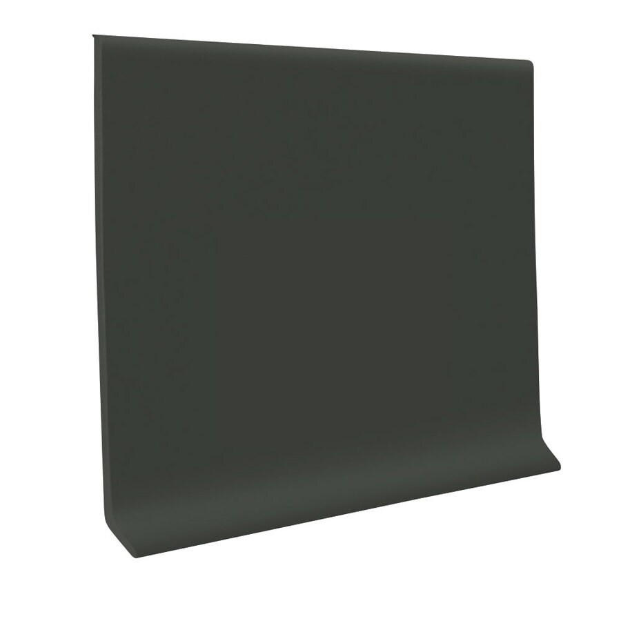 FLEXCO 30-Pack 2.5-in W x 4-ft L Black and Brown Rubber Wall Base