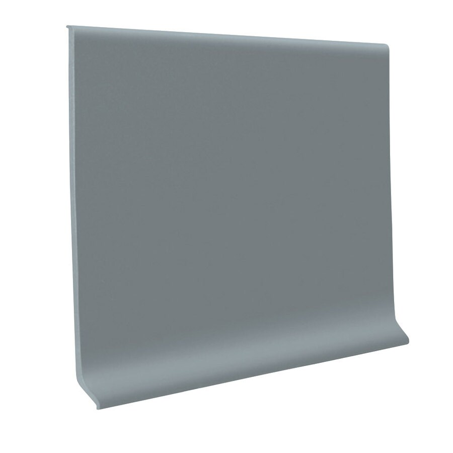 FLEXCO 30-Pack 4-in W x 4-ft L Medium Gray Rubber Wall Base
