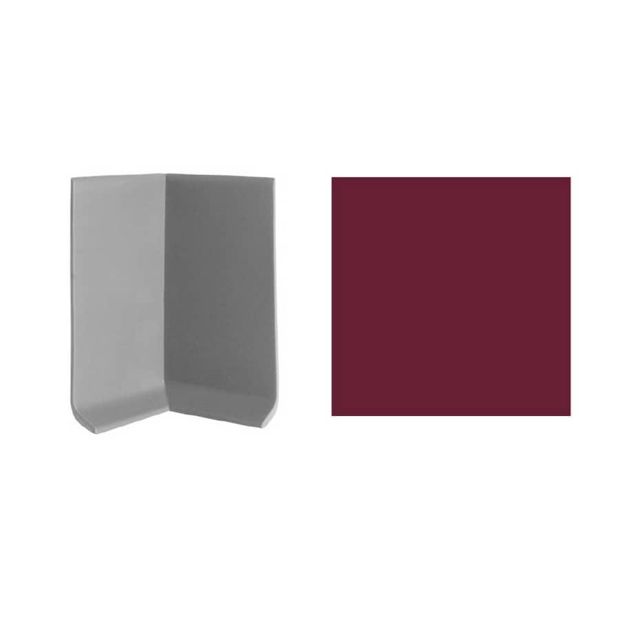 FLEXCO 3-in W x 4-in L Berry Inside Corner Vinyl Wall Base