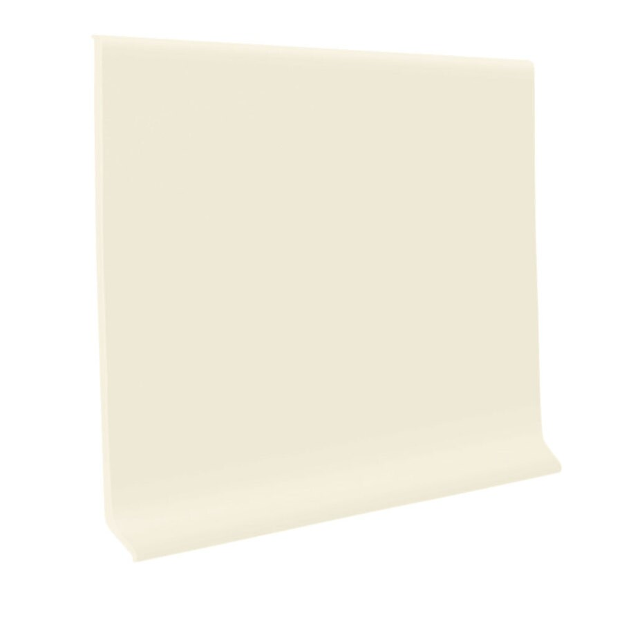 FLEXCO 30-Pack 6-in W x 4-ft L Baby's Breath Rubber Wall Base
