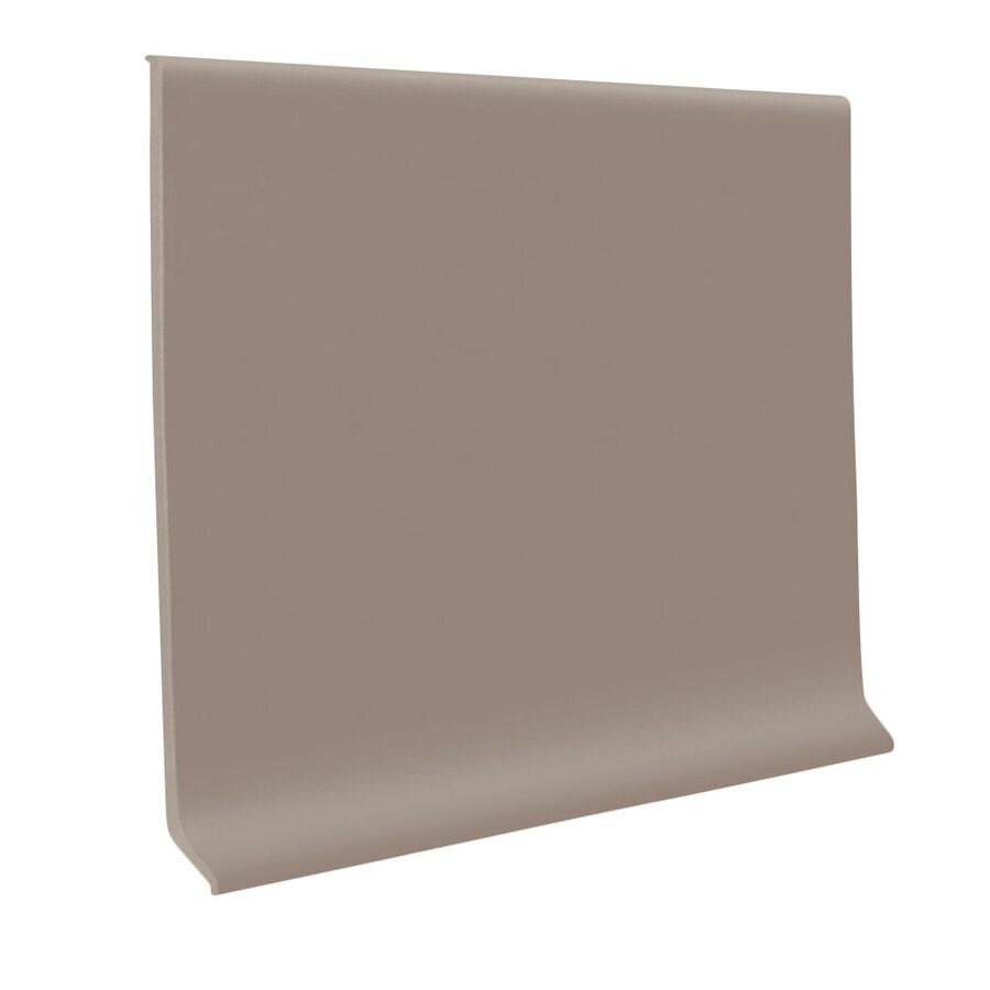 FLEXCO 30-Pack 6-in W x 4-ft L Dark Beige Rubber Wall Base