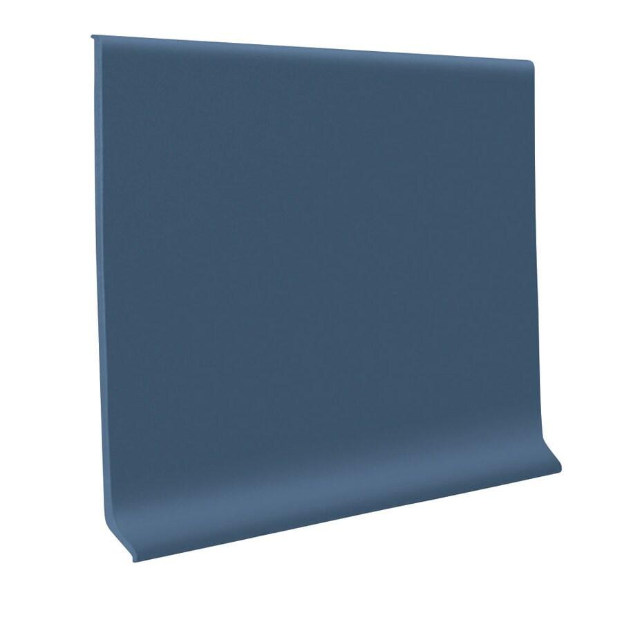 FLEXCO 4-in W x 120-ft L Blue Rubber Wall Base