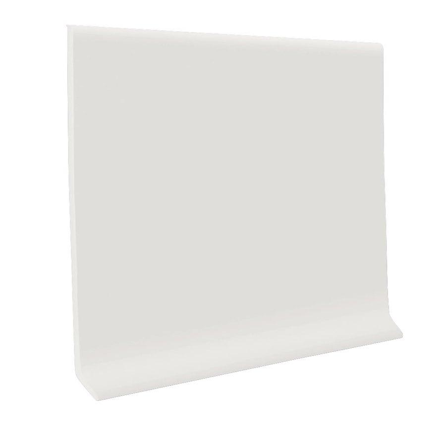 FLEXCO 4-in W x 120-ft L True White Rubber Wall Base