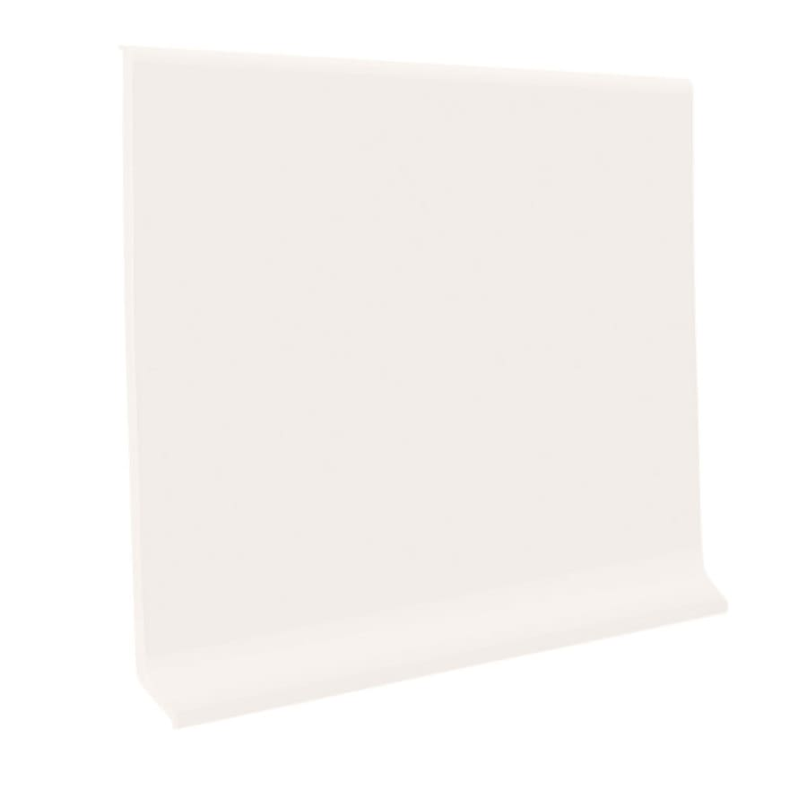 FLEXCO 6-in W x 120-ft L Arctic White Rubber Wall Base