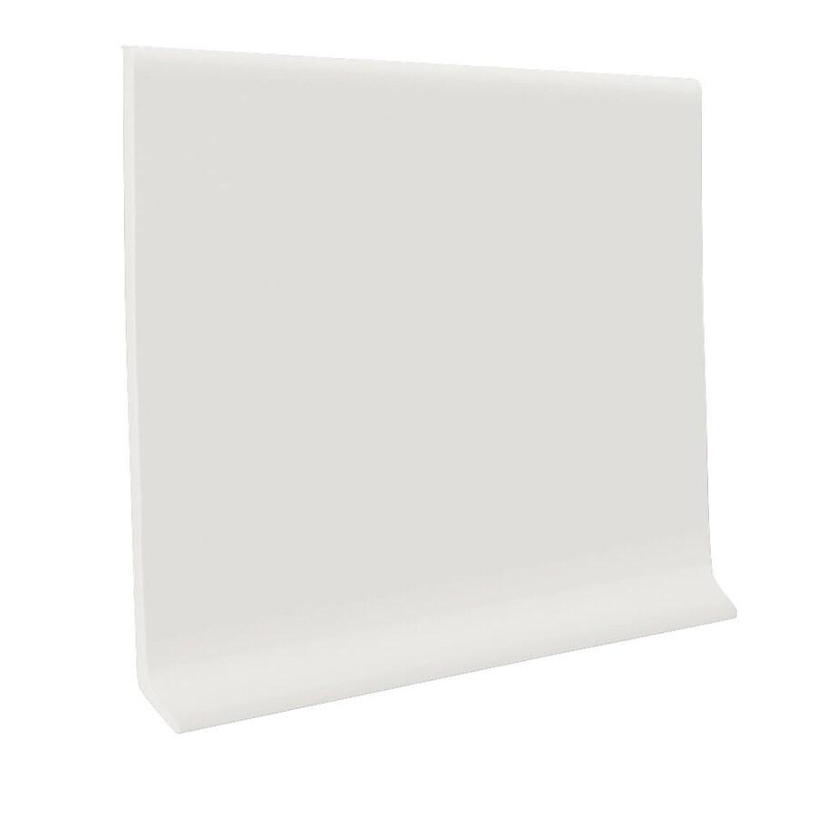 FLEXCO 6-in W x 120-ft L True White Rubber Wall Base