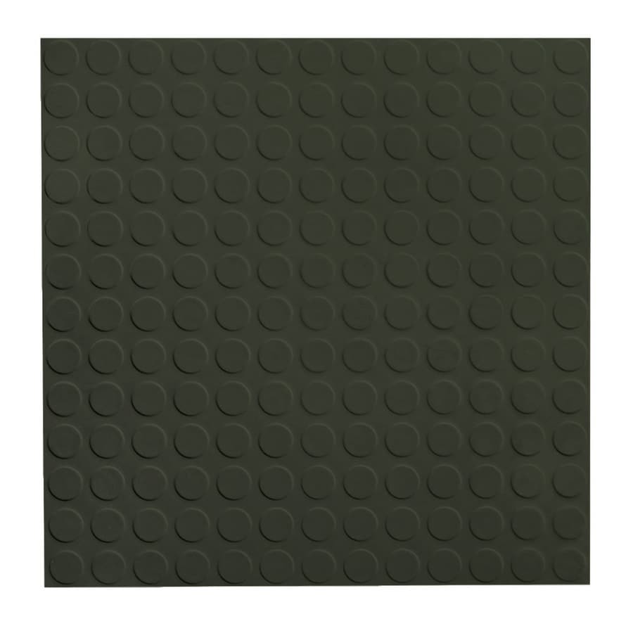 FLEXCO 18-in x 18-in Black Dahlia Full-Spread Adhesive Rubber Tile Multipurpose Flooring
