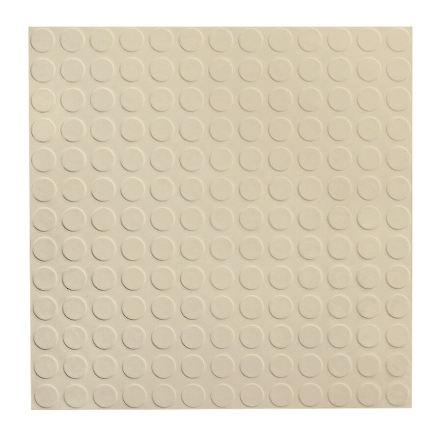 FLEXCO 18-in x 18-in Neutral Full-Spread Adhesive Rubber Tile Multipurpose Flooring