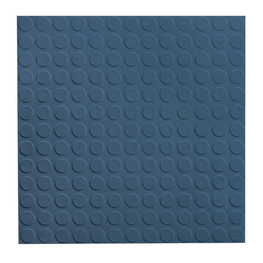 FLEXCO 18-in x 18-in Blue Full-Spread Adhesive Rubber Tile Multipurpose Flooring