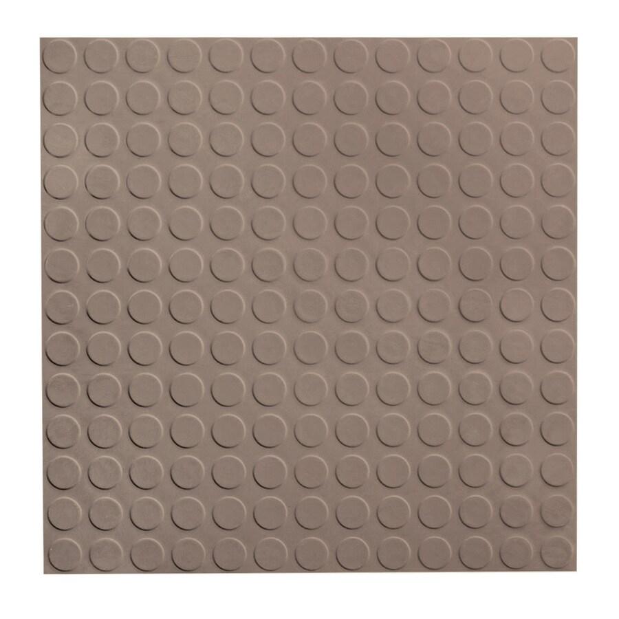 FLEXCO 18-in x 18-in Dark Beige Full-Spread Adhesive Rubber Tile Multipurpose Flooring