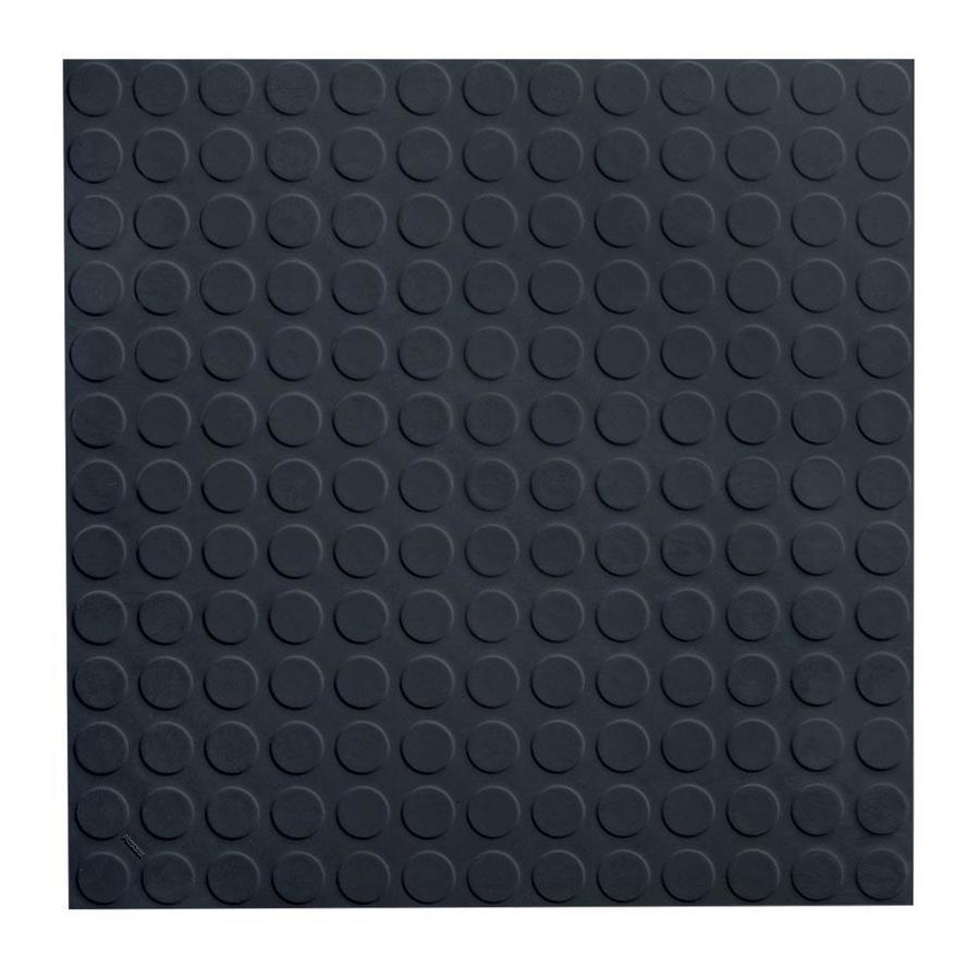FLEXCO 18-in x 18-in Black Dahlia Full-Spread Adhesive Rubber Tile Multipurpose Flooring