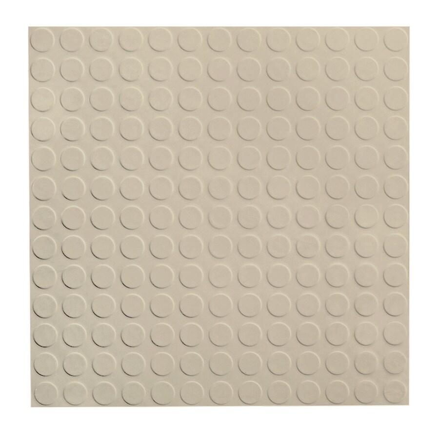 FLEXCO 18-in x 18-in Almond Full-Spread Adhesive Rubber Tile Multipurpose Flooring