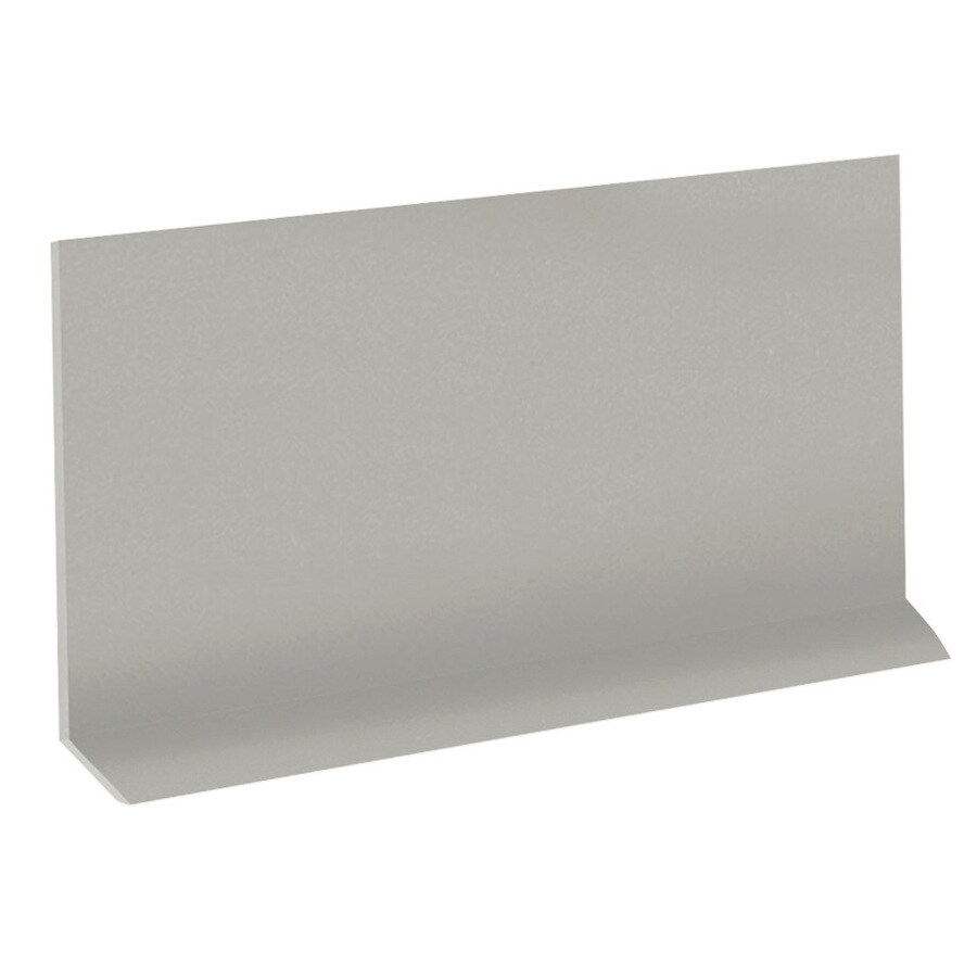 FLEXCO Riser 7-in x 60-in Light Gray Rubber Stair Risers