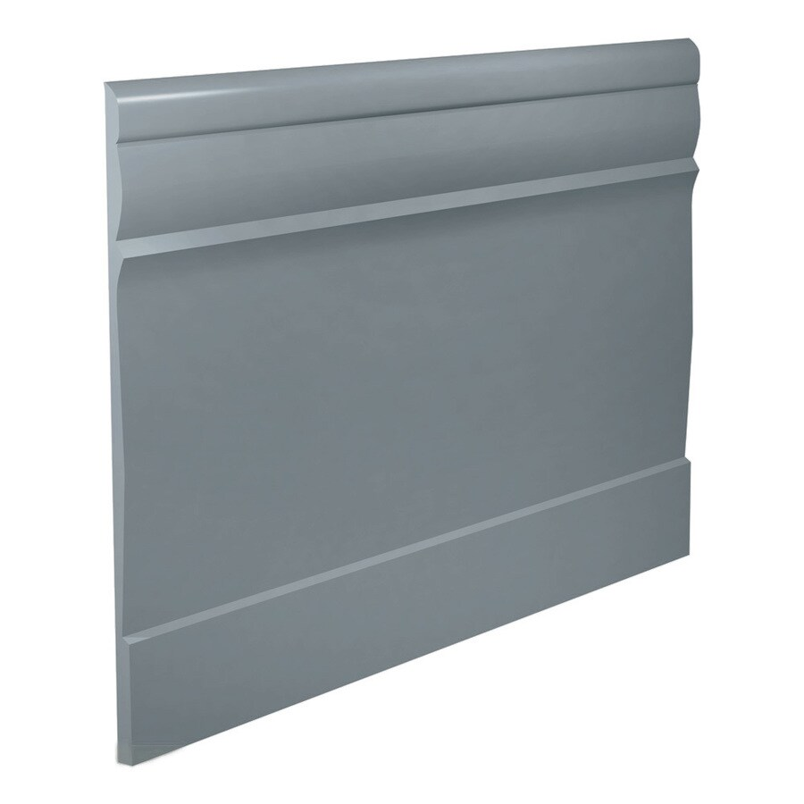 FLEXCO 7.75-in W x 40-ft L Medium Gray Thermoplastic Rubber Wall Base