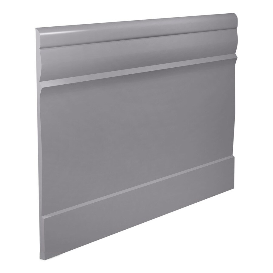 FLEXCO 7.75-in W x 40-ft L Gray Thermoplastic Rubber Wall Base
