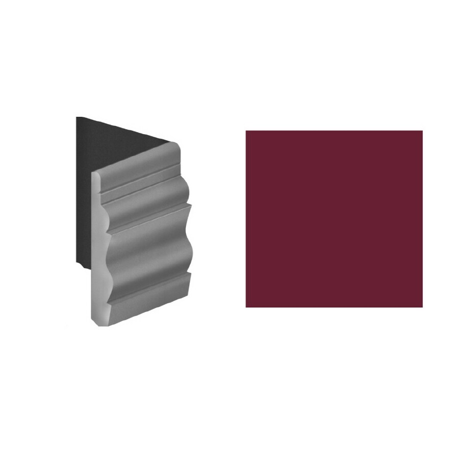 FLEXCO 4-Pack 4-1/2-in W x 6-in L Berry Outside Corner Vinyl Wall Base