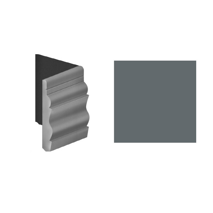 FLEXCO 4.5-in W x 0.5-ft L Ingot Gray Wall Base